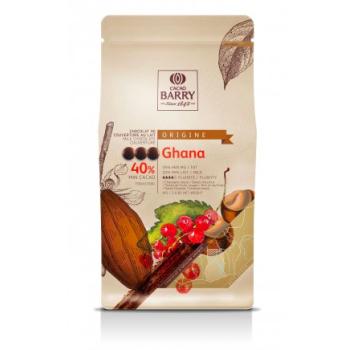 CHOCOLAT DE COUVERTURE GHANA 40 % - SACHET DE 1KG
