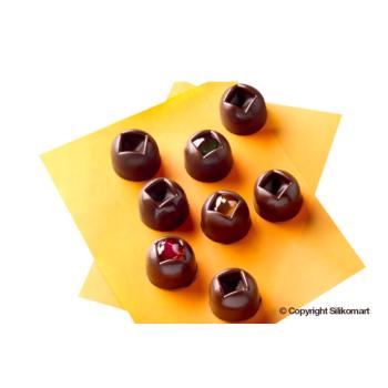 """Plaque silicone pour chocolat""""Easy Choc"""" : 15 boules (plaque de 214 x 106 mm)"""