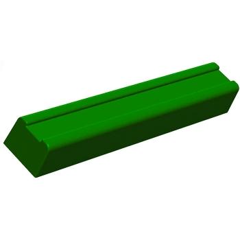 Gouttières à bûche plastique Ronde fond plat - paquet de 12