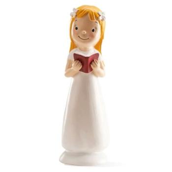 Décor figurine communion - Fille avec un livre