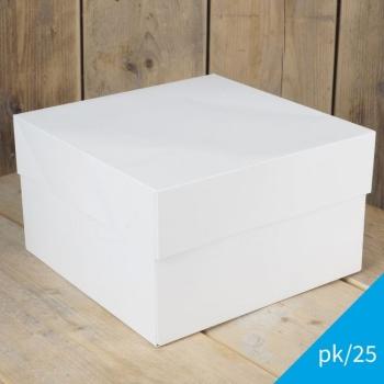 Cakebox Blanche  - 33x33x15 cm - par 5 ou 25 unités