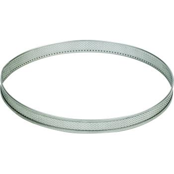 Cercle  inox perforé - cercle à tarte - Hauteur 2cm