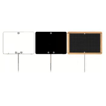 Étiquette rectangle pique inox