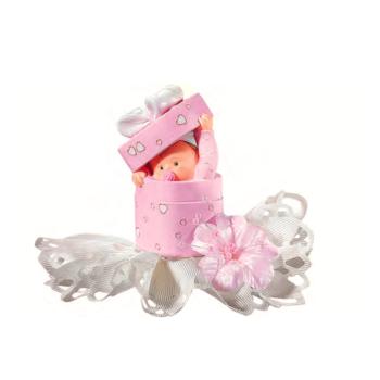 Bébé boîte rose - 10 cm