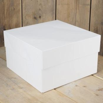 Cakebox Blanche  - 30x30x15 cm - Par 1 ou 25 unités