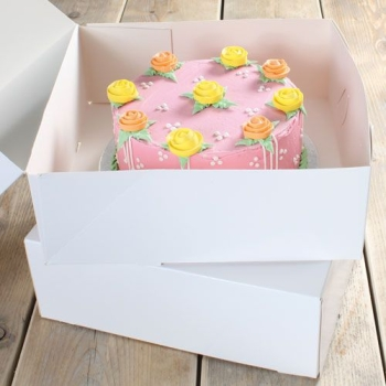 Cakebox Blanche  - 32x32x11.5 cm - P/2