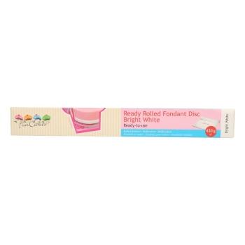 Funcakes - Pâte à sucre étalée prête à l'emploi - Blanc - Casher / Halal / Sans Gluten