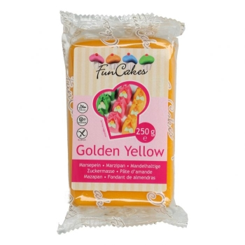 Pâte d'amande jaune or - Funcakes - 250g