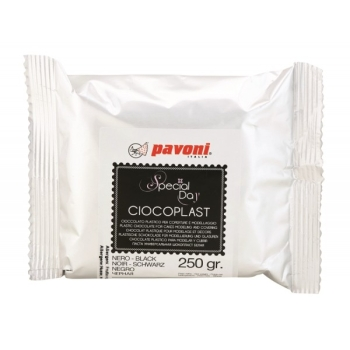 Chocolat plastique - Noir - 250gr