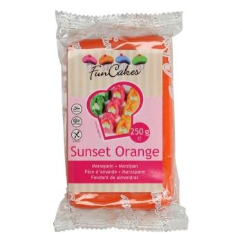 Pâte d'amande Orange coucher de soleil - Funcakes - 250g - Halal/Casher