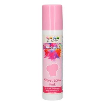 Funcakes - Spray EFFET VELOURS Colorant - Rose - Halal - RÉSERVÉ AUX PROFESSIONNELS ET AU CAP