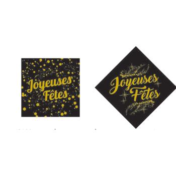 """Carré """"Joyeux Noël"""" - 4 x 4 cm -"""