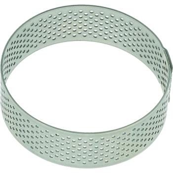 Cercle inox perforé - Ø 6 x h 2 cm