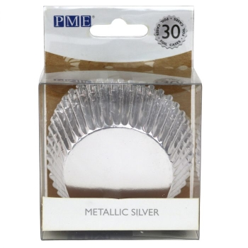PME - caissettes à Cupcakes - Argent métalisé - P/30
