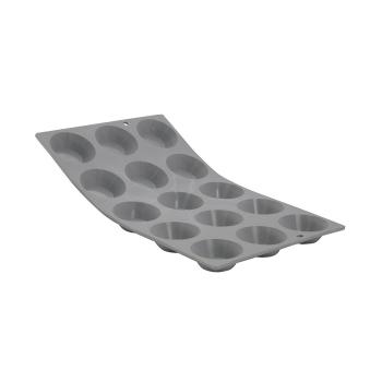 PLAQUE 15 TARTELETTES Ø 5CM ELASTOMOULE, MOUSSE DE SILICONE (plaque de 300 x 176 mm)