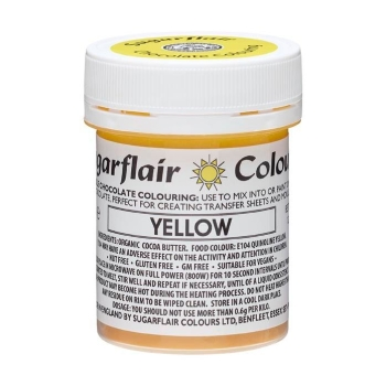 SUGARFLAIR COLORANT CHOCOLAT - YELLOW - 35G