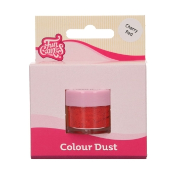 POUDRE ALIMENTAIRE FUNCAKES COLOUR DUST - CHERRY RED - 2,5 G