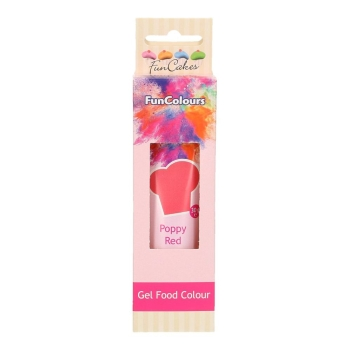 COLORANT GEL FUNCOULOURS - POPPY RED - HALAL