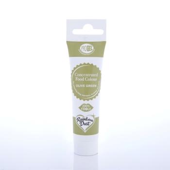 Colorant ProGel concentré 25g - Olive verte -Olive Green- Halal/Casher
