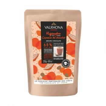COPEAUX DE CHOCOLAT NOIR NYANGBO 68% - VALRHONA - 250 G