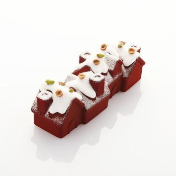 MOULE SILICONE PAVOCAKE CHALET- COLLABORATION AVEC FRANK HAASNOOT