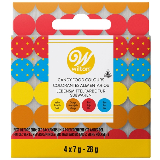 CANDY COLORANTS - SET/4 - WILTON