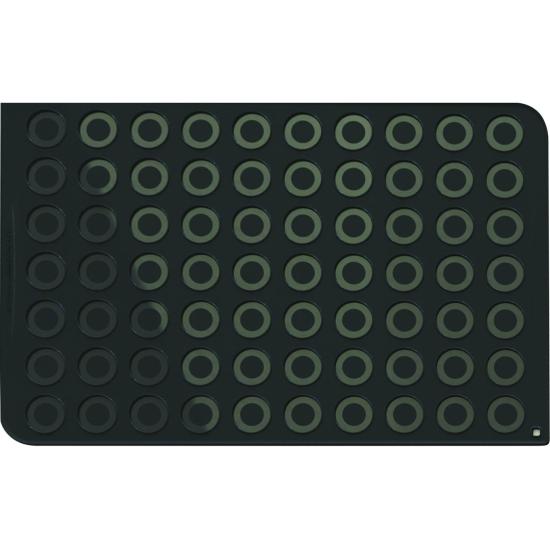 Plaque macarons pro en silicone (70 empreintes)