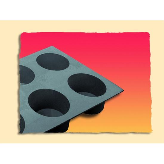 Moule en mousse de silicone : Muffins (plaque de 300 x 176 mm)