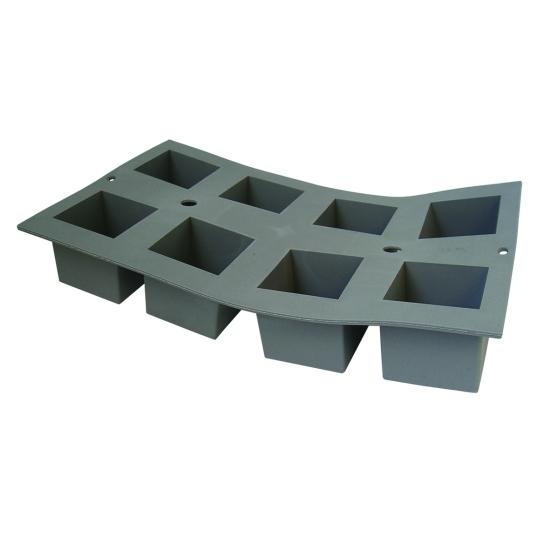 Moule en mousse de silicone : Cube  (plaque de 300 x 176 mm)