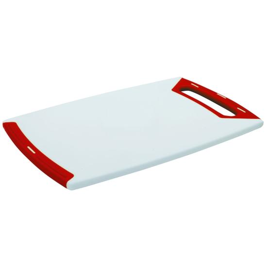 Planche à découper en polyéthylène blanc