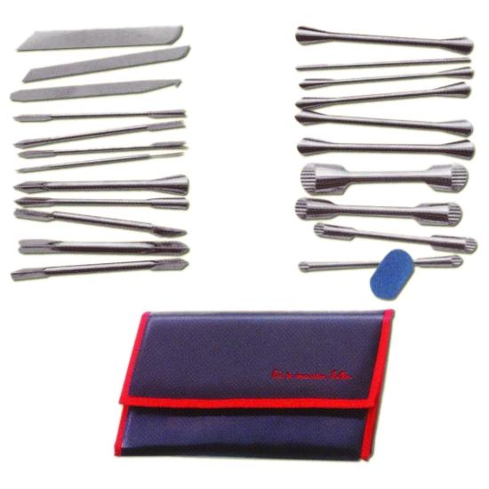 Trousse 22 outils + pierre à affûter