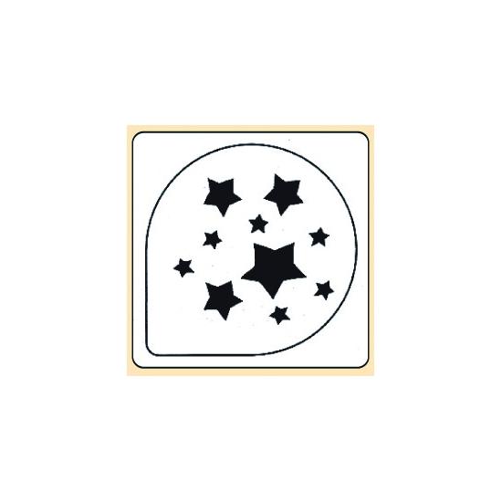 Pochoir plastique étoile