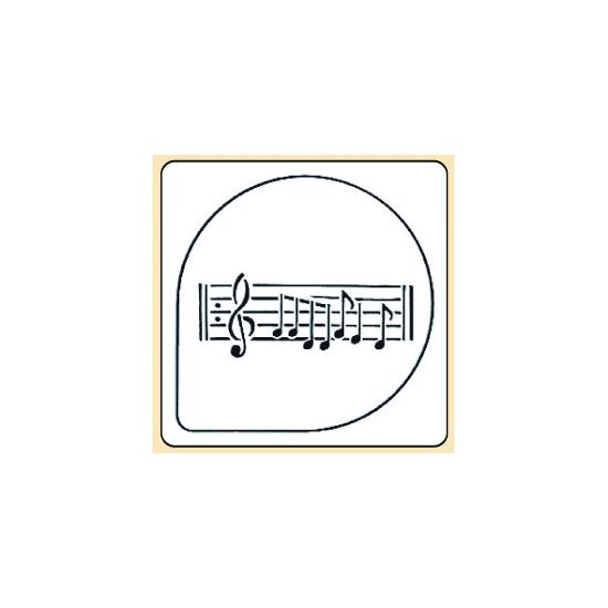 Pochoir plastique partition de musique