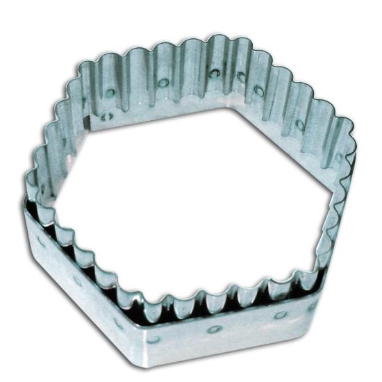 Découpoir inox Hexagonal cannelé - 8.5cm