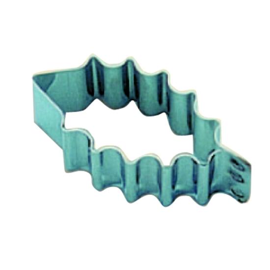 Découpoir inox Feuille de houx - 6cm