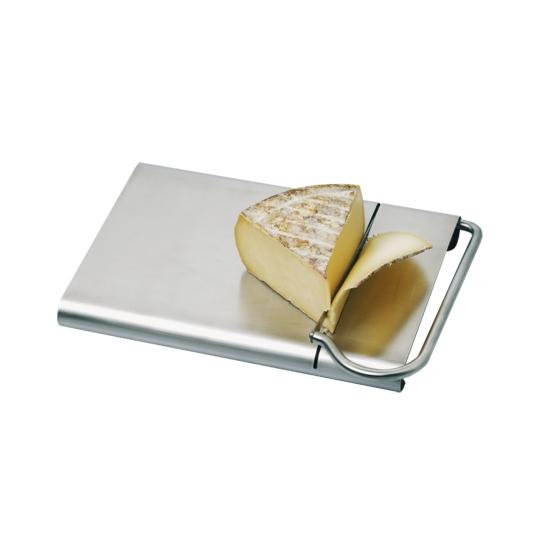 Coupe fromage inox avec lame et plateau