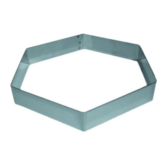 Hexagone inox pour Mousse