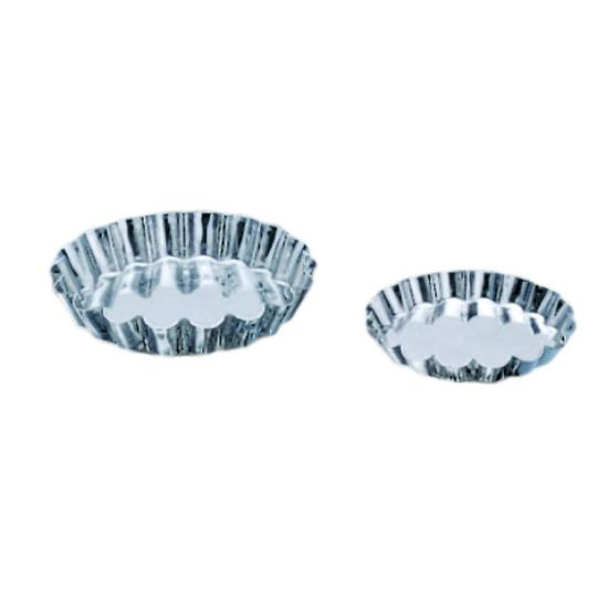 Tartelette ronde cannelée fer-blanc
