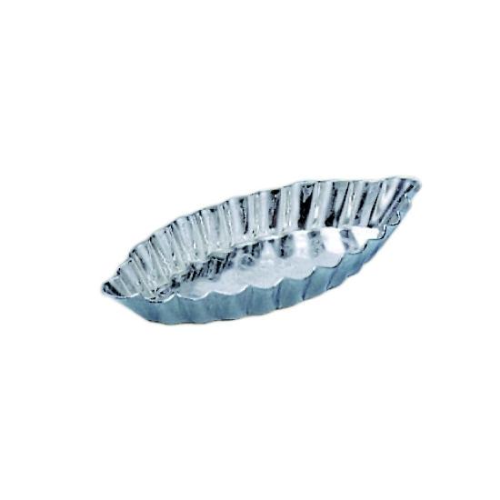 Barquette cannelée fer-blanc