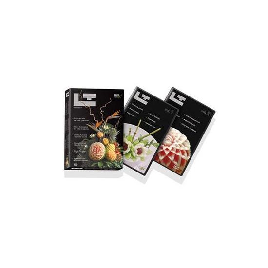 """""""Cours de sculpture sur fruits et légumes"""" coffret 2 DVD"""