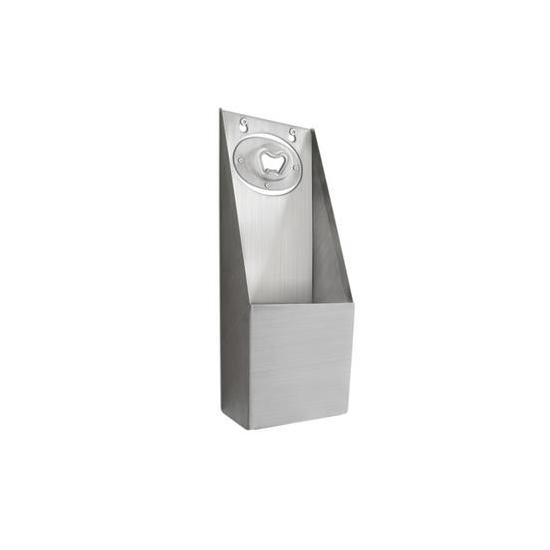 Décapsuleur inox + boîte récupératrice inox