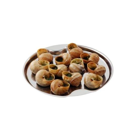 Plat inox 12 escargots