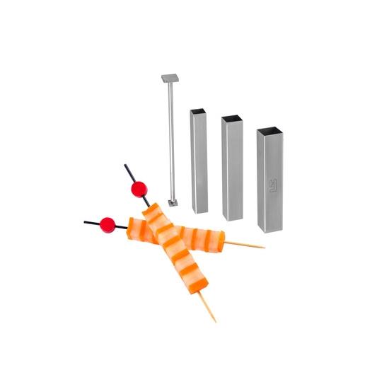 Kit de 3 tubes découpoirs carrés et 1 poussoir FOOD DESIGNER