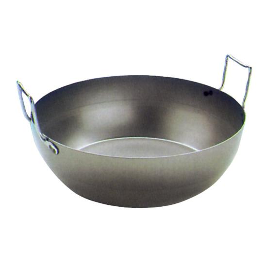 Bassine à friture bombée sans panier Acier