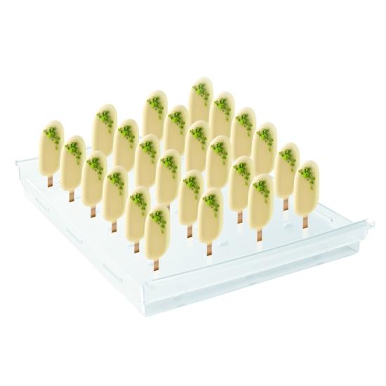 Support bâtonnets PM polycarbonate avec encoches