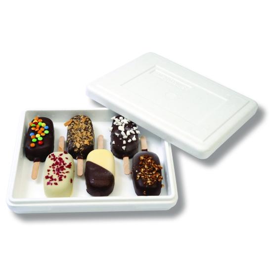 Boite polystyrène pour glaces individuelles