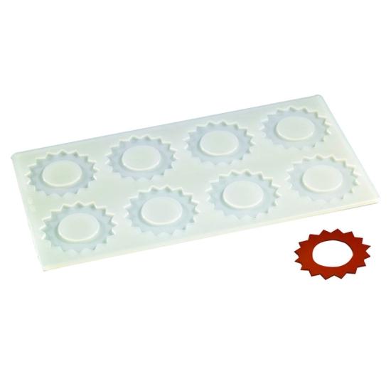 Plaque silicone 8 empreintes soleil 2 pour Décors Chocolat et Sucre