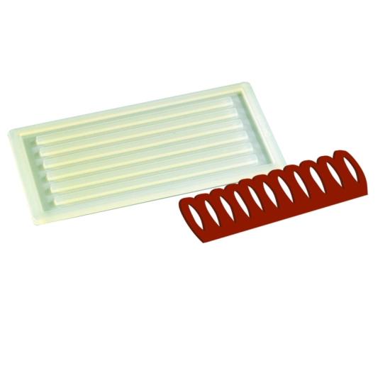Plaque silicone 1 empreinte pour Décors Chocolat et Sucre