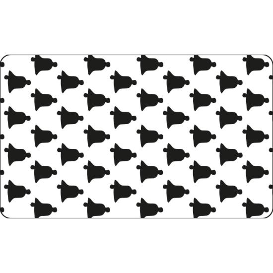 Grille plastique pochoir à Biscuit motif Cloche - 60*40cm