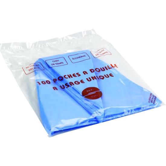 """Poche jetable polyéthylène 56*30cm - """"sachet distributeur"""" de 100 pièces"""